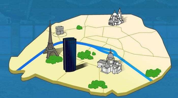 Mapa da Torre Montparnasse
