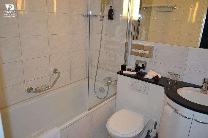 Banheiro do Sorell Hotel Seidenhof