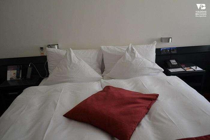 Cama do Sorell Hotel Seidenhof Zurique