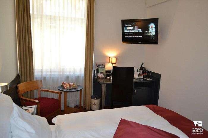 Quarto do Sorell Hotel Seidenhof Zurique