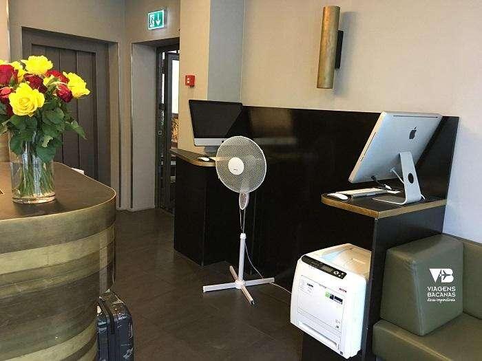 Recepção do Sorell Hotel Seidenhof