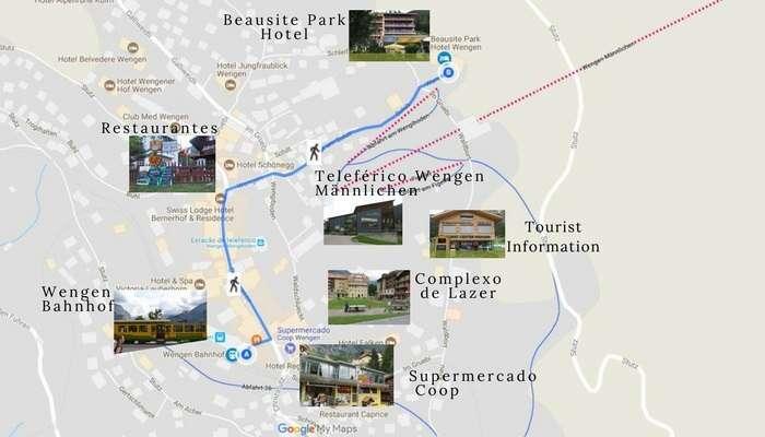 Mapa de Wengen