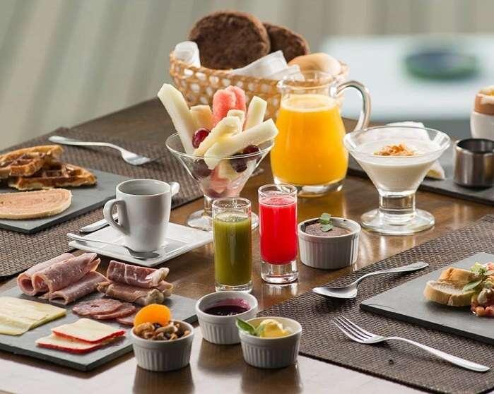 Café da manhã da Pousada Tejú