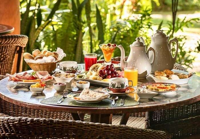 Café da manhã da Pousada Toca da Coruja