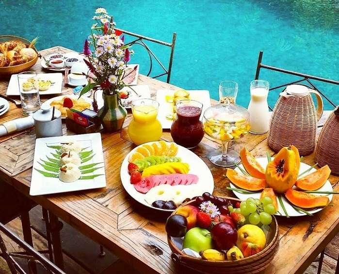 Café da manhã no Uxua