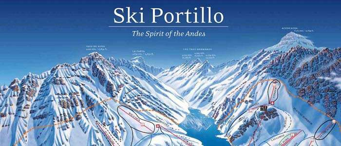 Portillo ski map