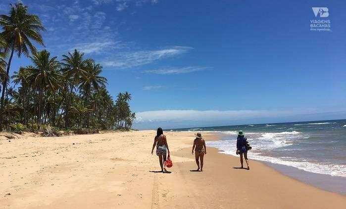 Caminhada a pé pelas Praias