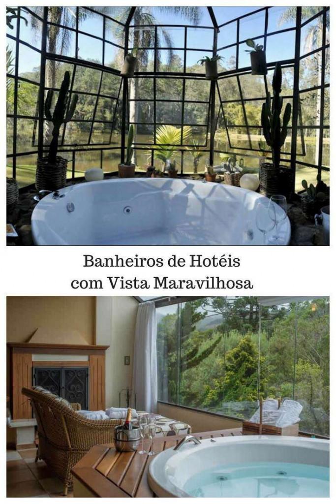 Banheiros de Hotéis com Vista Maravilhosa