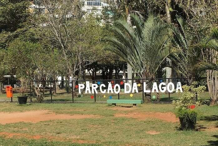 Área para cachorros na Lagoa