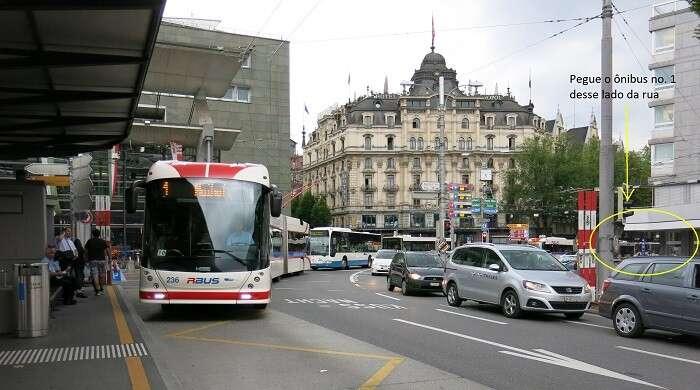 Ônibus no. 1 para Kriens