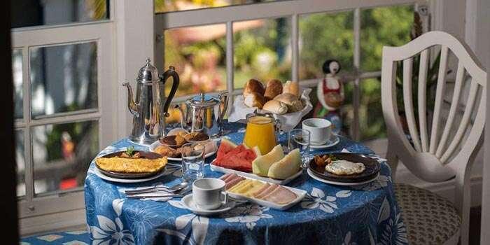 Café da manhã da Pousada do Sandi