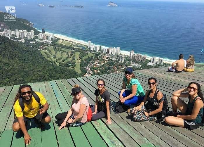 Grupo na Rampa de vôo livre da Pedra Bonita