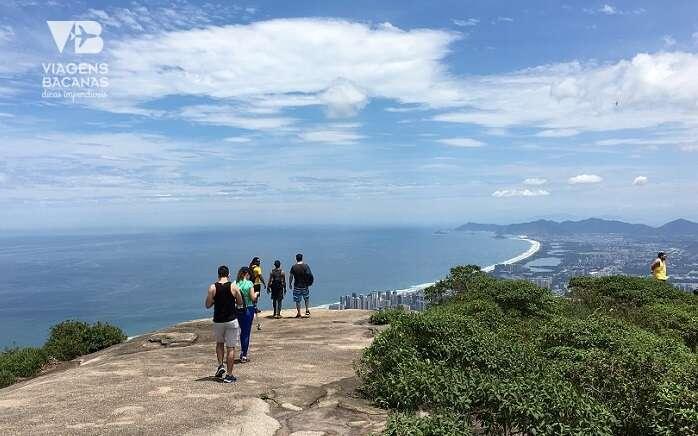Vista do topo da Pedra Bonita para a Zona Oeste do Rio