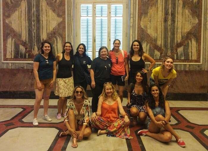 Blogueiros de viagem no Parque Lage