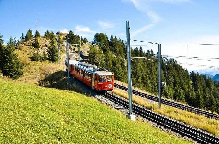 Trem no Monte Rigi - Viagens Bacanas