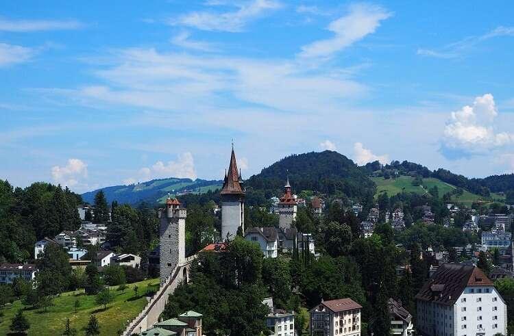 Muralhas e Torres Medievais de Lucerna - Viagens Bacanas
