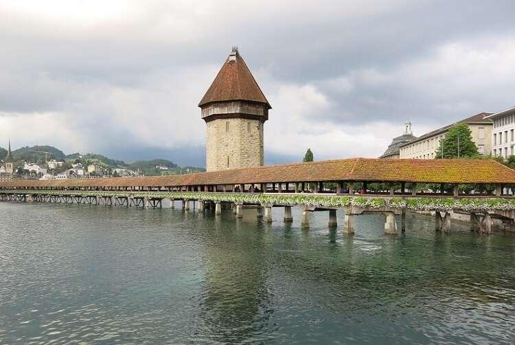 Ponte da Capela em Lucerna - Viagens Bacanas