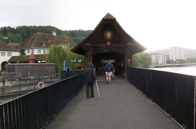 Ponte Spreuer em Lucerna - Viagens Bacanas