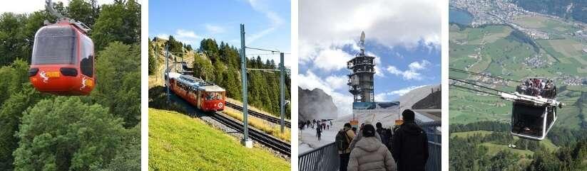 Montanhas nos arredores de Lucerna - Viagens Bacanas
