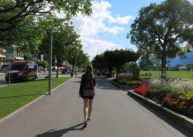 Avenida Höhewegg em Interlaken - Viagens Bacanas