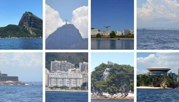Mosaico de fotos pontos turísticos Rio