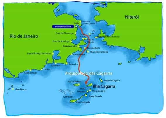 Roteiro para as Ilhas Cagarras