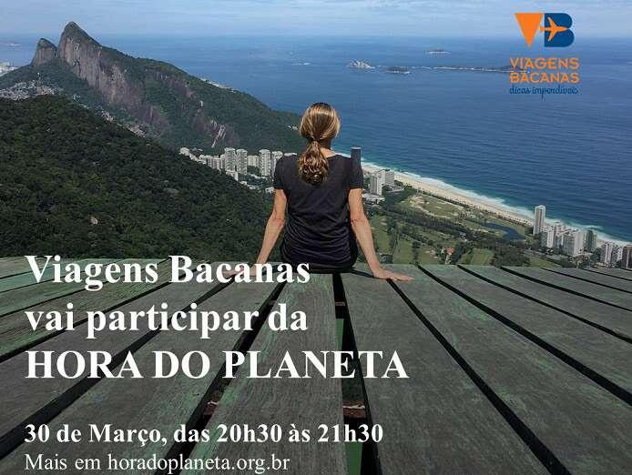 Viagens Bacanas participa da Hora do Planeta