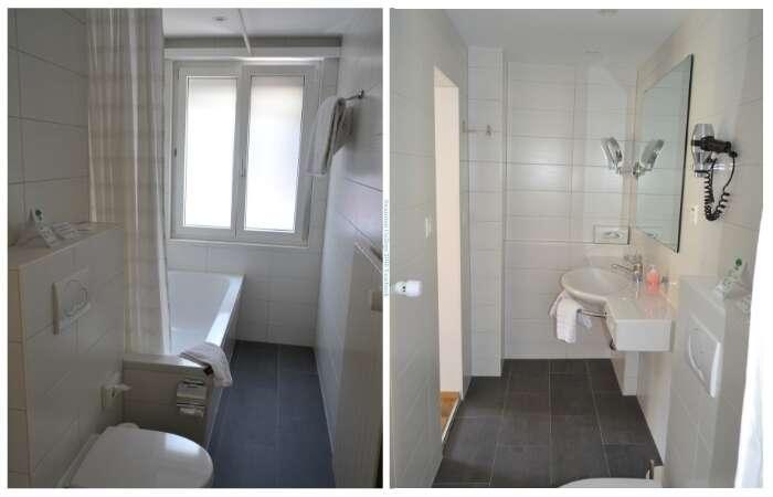 Banheiro do Hotel Bristol em Zermatt - Viagens Bacanas