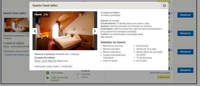 Características do quarto no Hotel Toscana em Interlaken