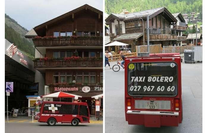 Taxis elétricos em Zermatt - Viagens Bacanas