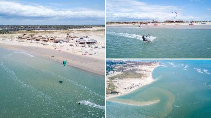 Kitesurf em Fortim no Ceará