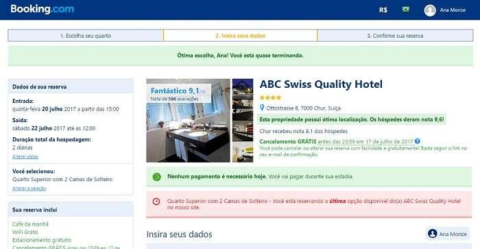 Reserva no Hotel ABC Chur com a Booking.com - Viagens Bacanas