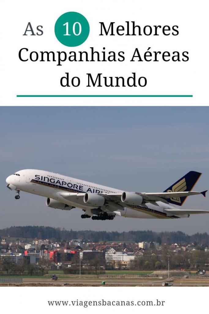 Melhores Companhias Aéreas do Mundo - Viagens Bacanas