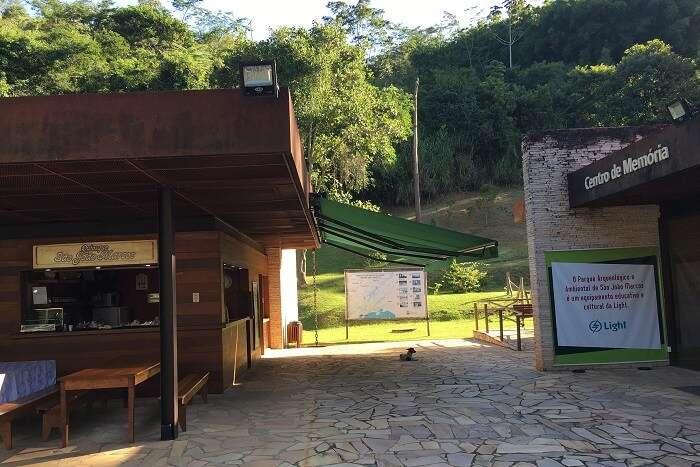 Sede  e recepção do Parque Arqueológico e Ambiental de São João Marcos