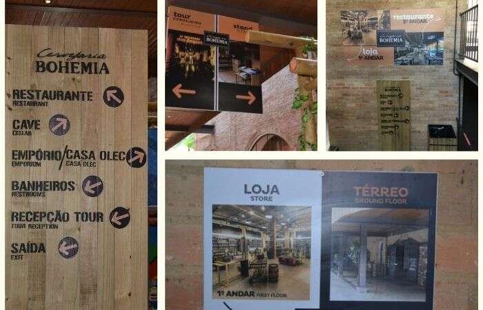 Placas no Tour Cervejeiro da Bohemia