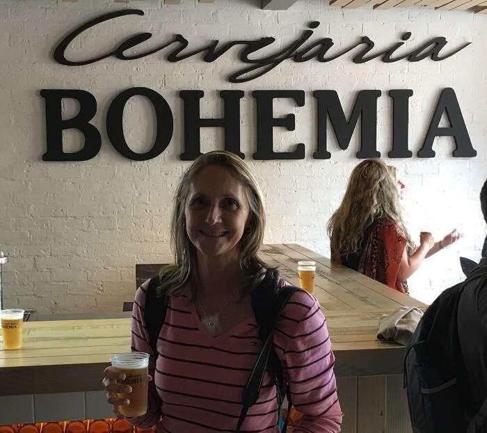Primeira degustação no Tour Cervejeiro da Bohemia