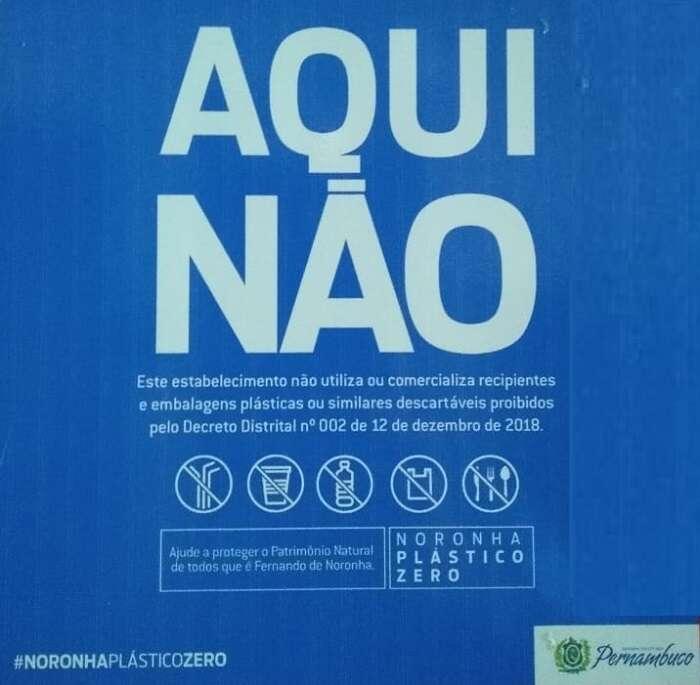 Campanha Plástico Zero em Fernando de Noronha