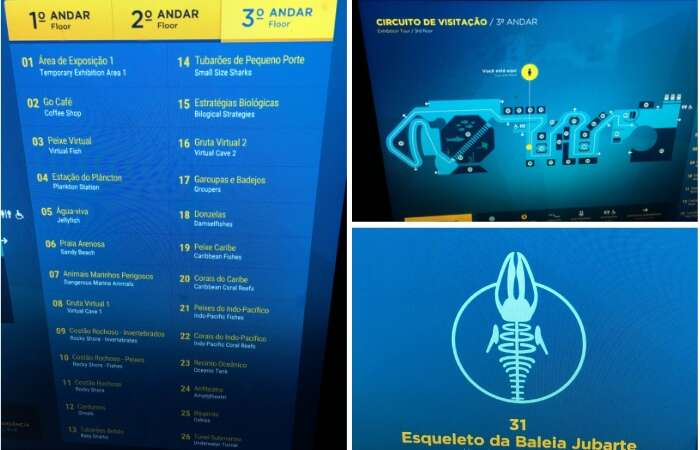 Mapas de localização no AquaRio