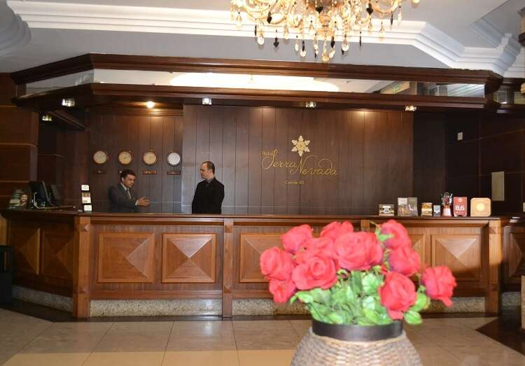 Recepção do Hotel Serra Nevada em Canela