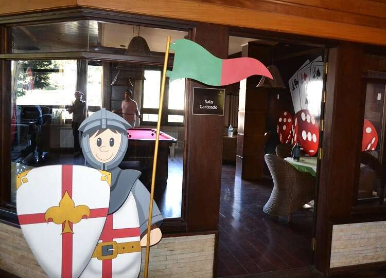 Sala de jogos no Hotel Serra Nevada em Canela