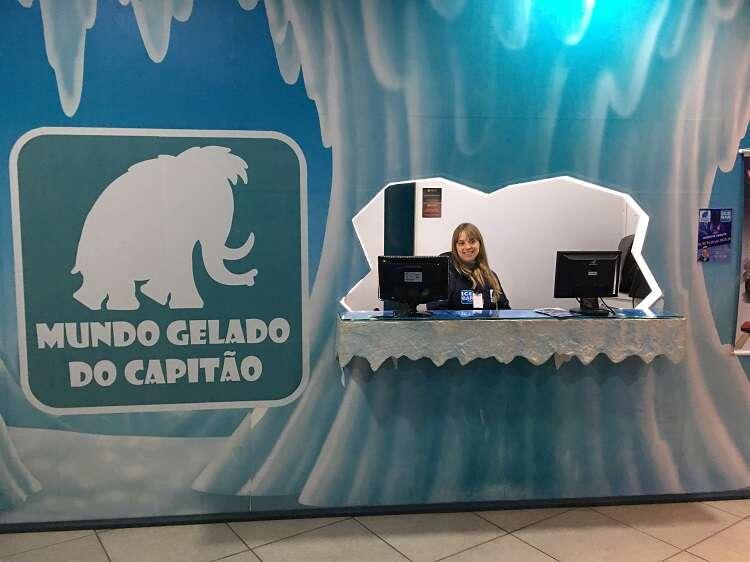 Recepção do Ice Bar Mundo Gelado