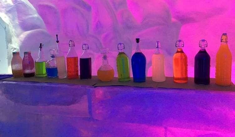 Drinques servidos no Ice Bar de Canela