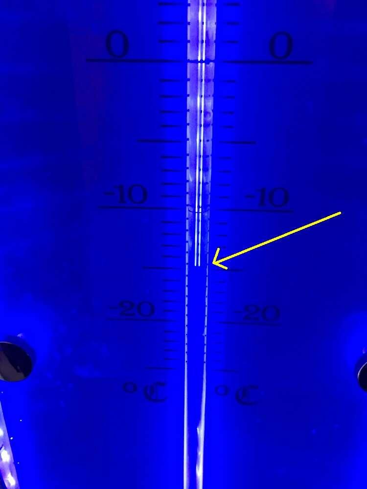 Temperatura negativa no Ice Bar