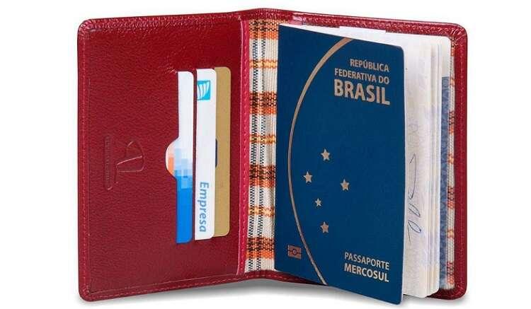 Capa para passaporte - Viagens Bacanas