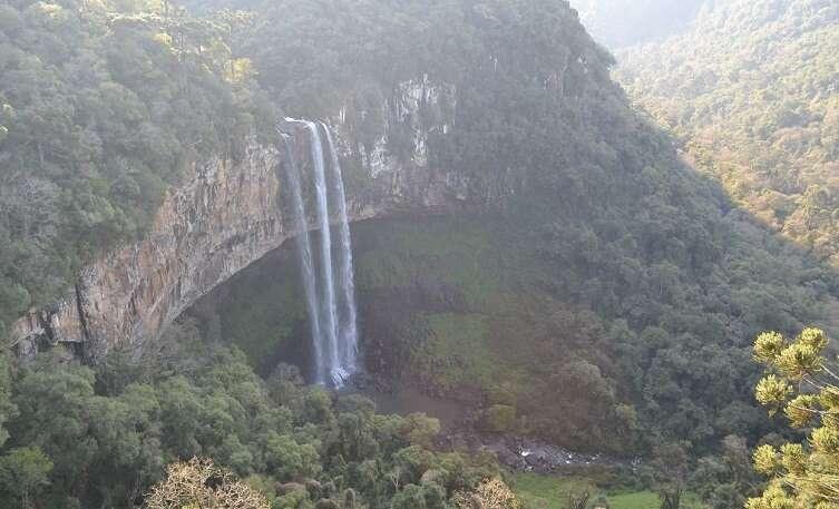 Cascata Caracol no Parque do Caracol em Canela - Viagens Bacanas