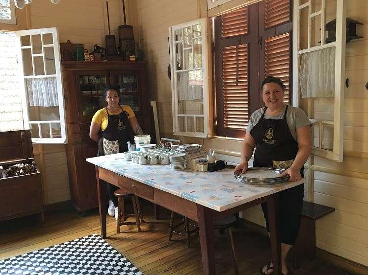 Apfelstrudel do Castelinho Caracol - Viagens Bacanas