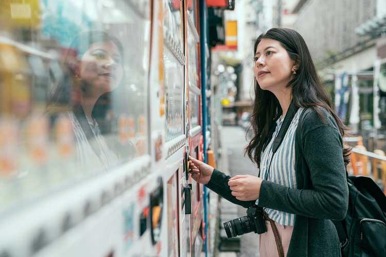 Vending machines no Japão - Viagens Bacanas