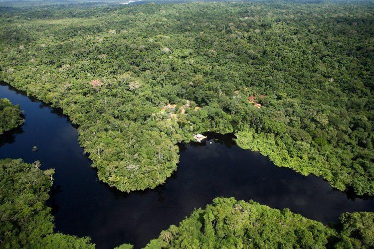 Vista aérea na Reserva Cristalino Lodge - Foto Edson Endrigo - Viagens Bacanas