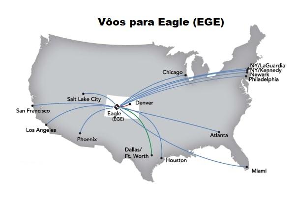 Vôos para Eagle EGE