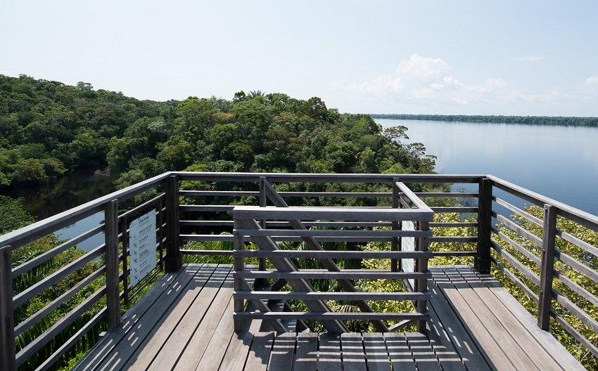 Mirante de observação do Anavilhanas Jungle Lodge